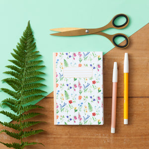 Flower Print  A6 Pocket Notebook