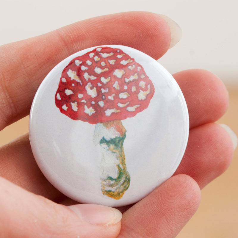 Mushrooms & Toadstools Fridge Magnets- Pack Of 5