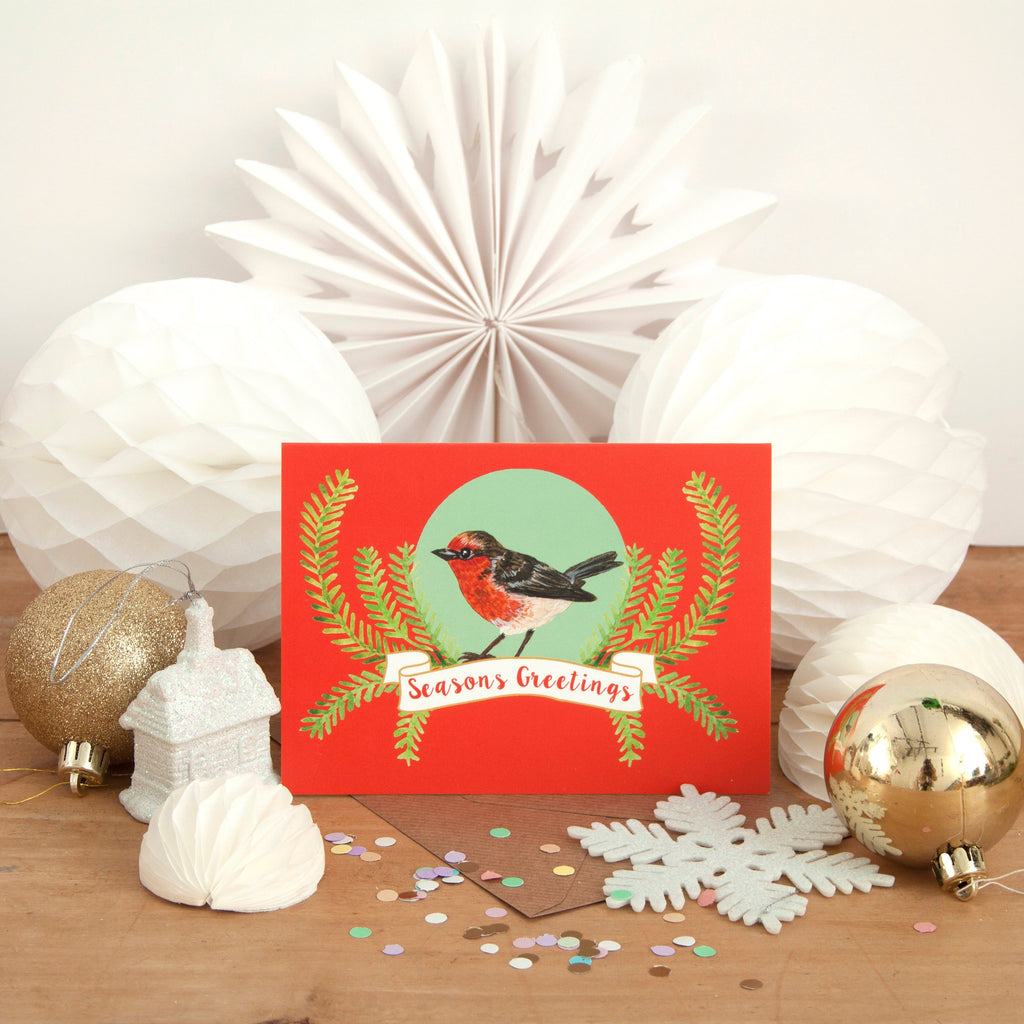 Robin Christmas Cards - Pack of 4