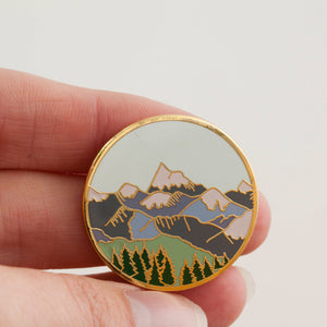 Mountains Hard Enamel Pin Badge