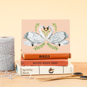 Swan lovers Greeting Card