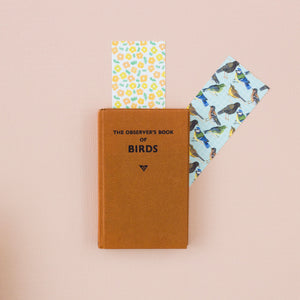 Birds & Flowers Reversible Bookmark