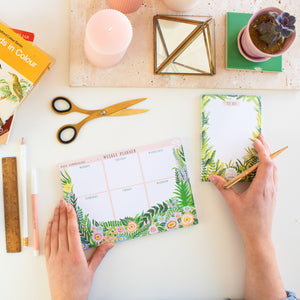Weekly Planner Floral Notepad