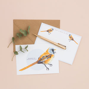 British Bird Notelet Set - Pack of 8