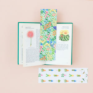 Flowers & Cacti Reversible Bookmark