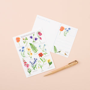 British Wildflowers A6 Postcard