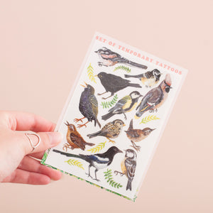 Garden Bird Temporary Tattoo Pack
