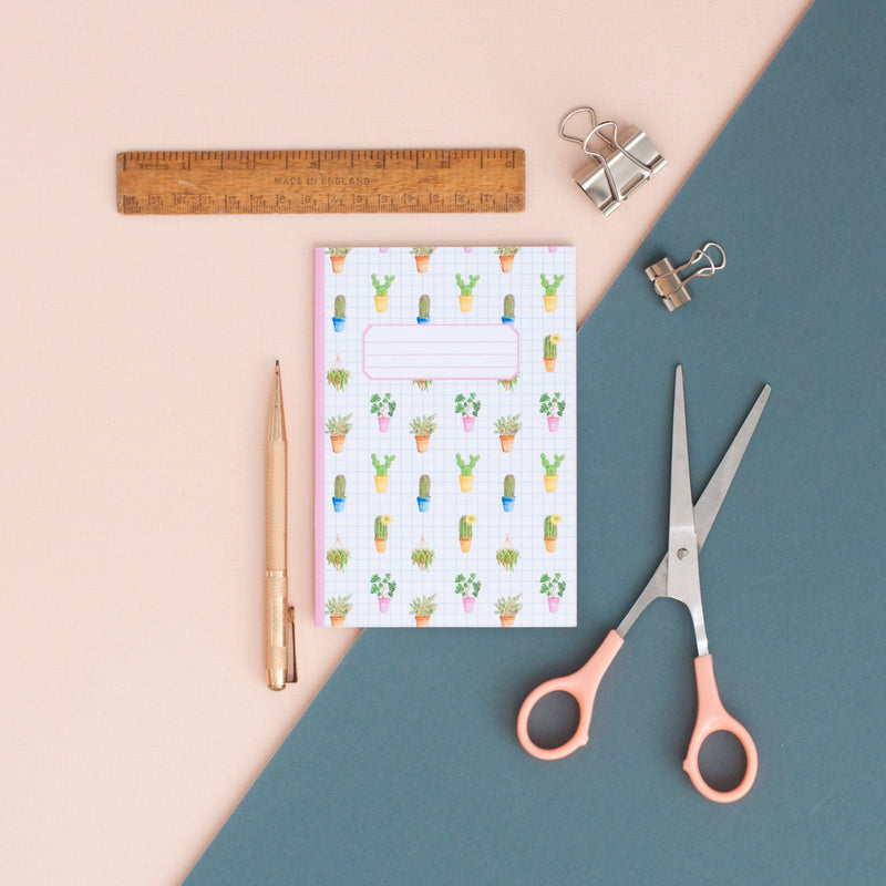 Cacti Pattern Illustrated Pocket Notebook - A6