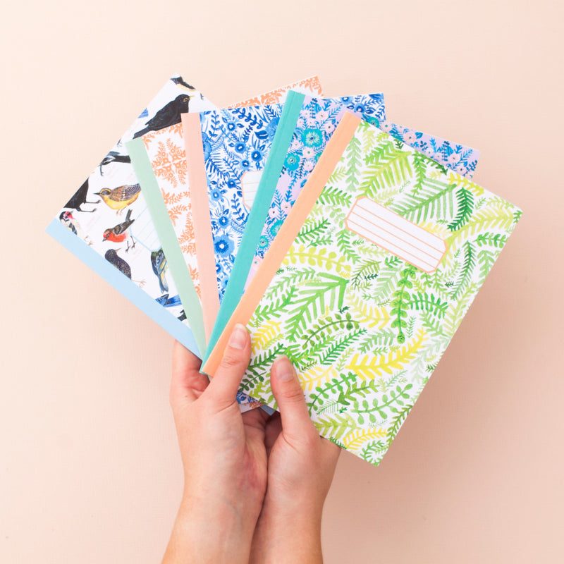 Set of 3 A5 Patterned Notebooks