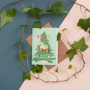 Enamel Pin Christmas Card -  Dala Horse Pin