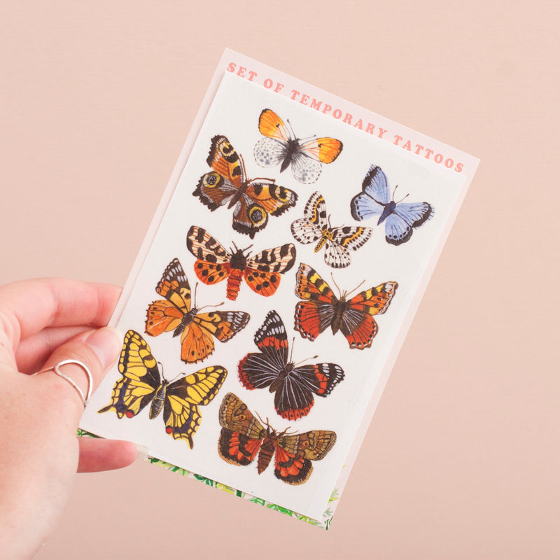 Butterfly & Moth Temporary Tattoos Set