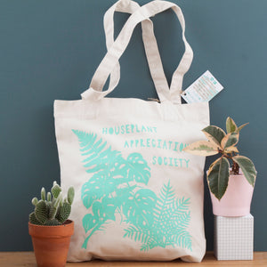 Houseplant Appreciation Society Recycled Tote Bag - Natural