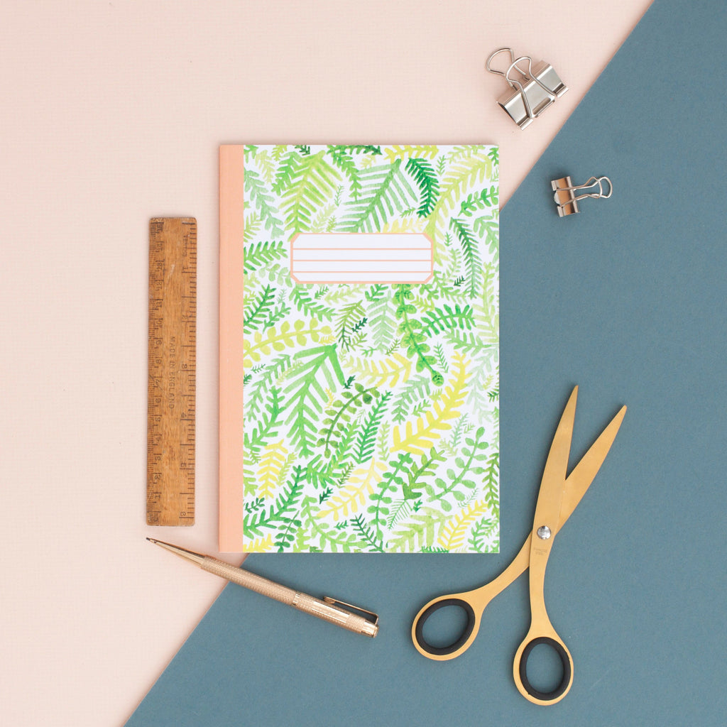 Fern Pattern A5 Notebook