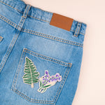 Fern Embroidered Iron-on Patch