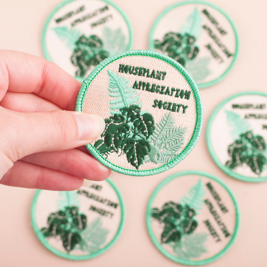 Houseplant Appreciation Society Embroidered Iron-on Patch