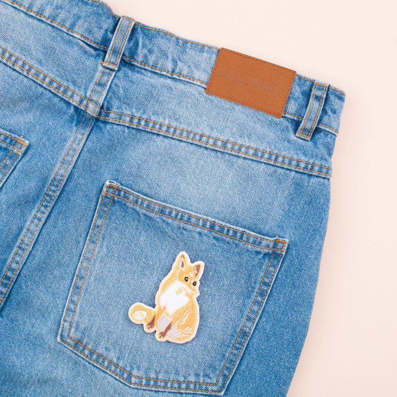 Fox Embroidered Iron-on Patch