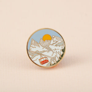 Winter Snowy Mountains Hard Enamel Pin