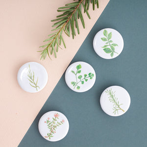 Herbs Fridge Magnets - Set of 5
