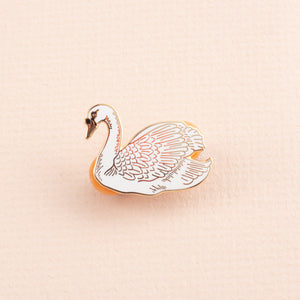 Mute Swan Enamel Pin Badge