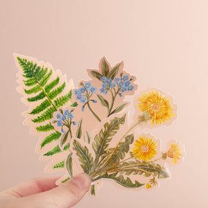 Wildflower Vinyl Sticker Pack of 3
