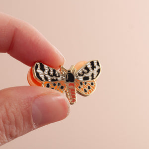 Garden Tiger Moth Enamel Pin Badge