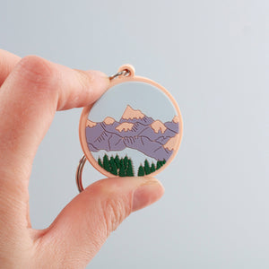 Mountain Scene Keyring