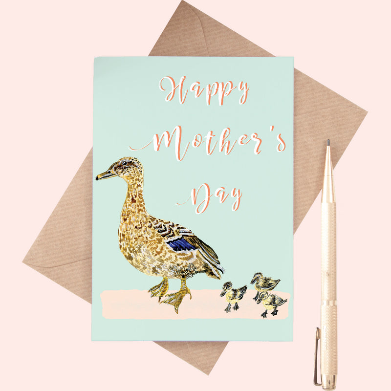 Mother's Day Duck Illustrated Card