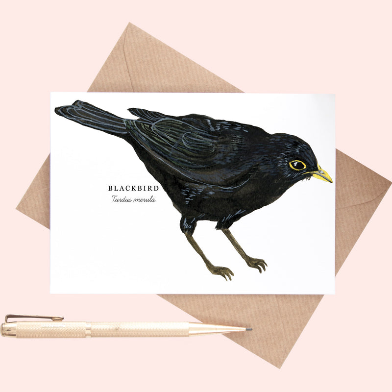 Blackbird Illustration A6 Greeting Card