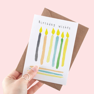 Birthday Candles A6 Greeting Card