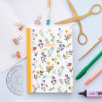 Wildflower Pattern Notebook - A5 100 Page Journal