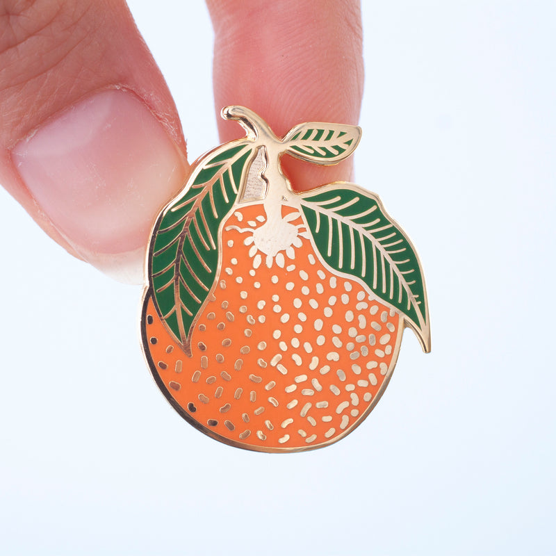 Clementine Enamel Pin Badge