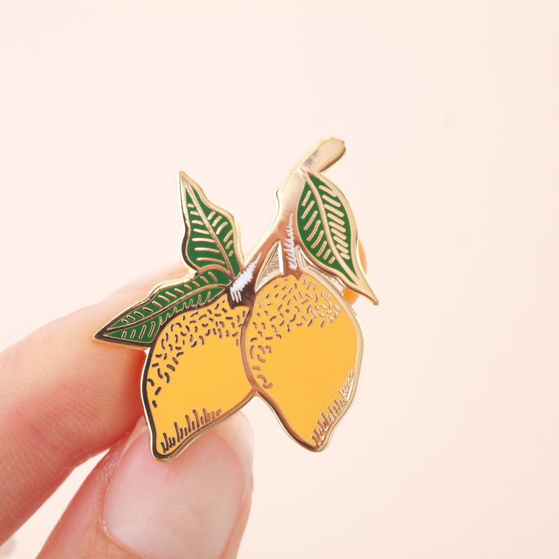 Lemons Enamel Pin Badge
