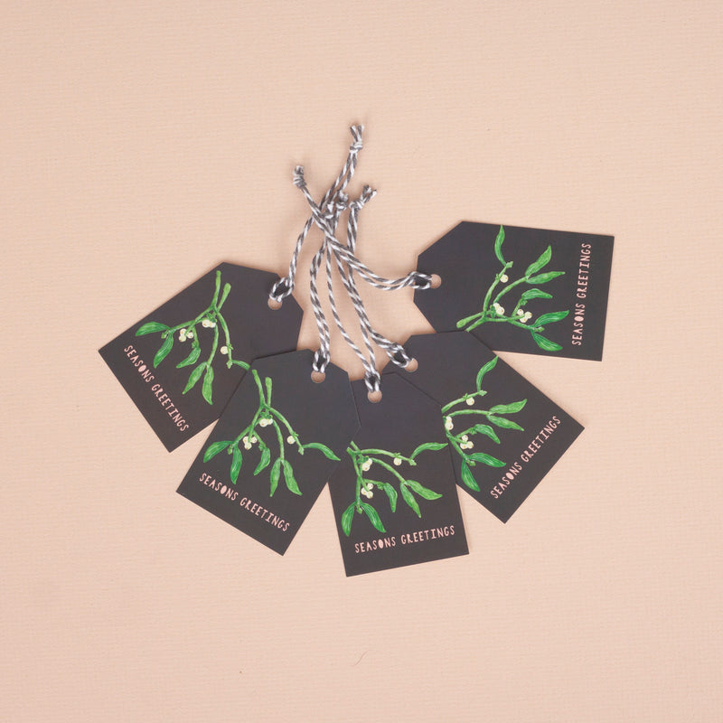 Mistletoe Christmas Gift Tag - Pack of 5