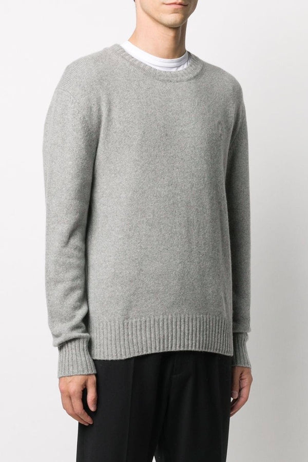 Men's Cashmere Crewneck Sweater in Heather Grey