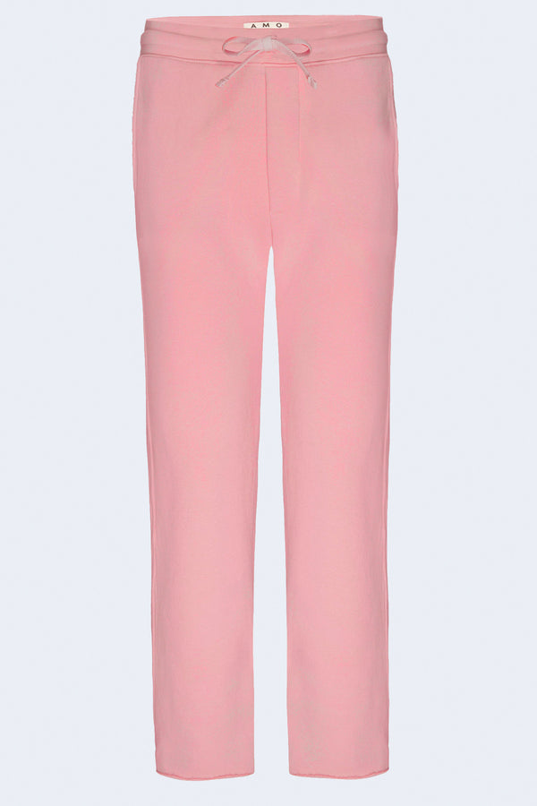 Straight Leg Sweatpants in Pink