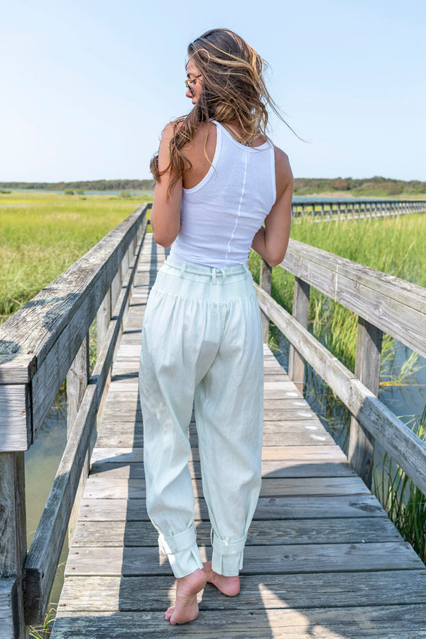 Glassy Slouch Army Pant in Seafoam