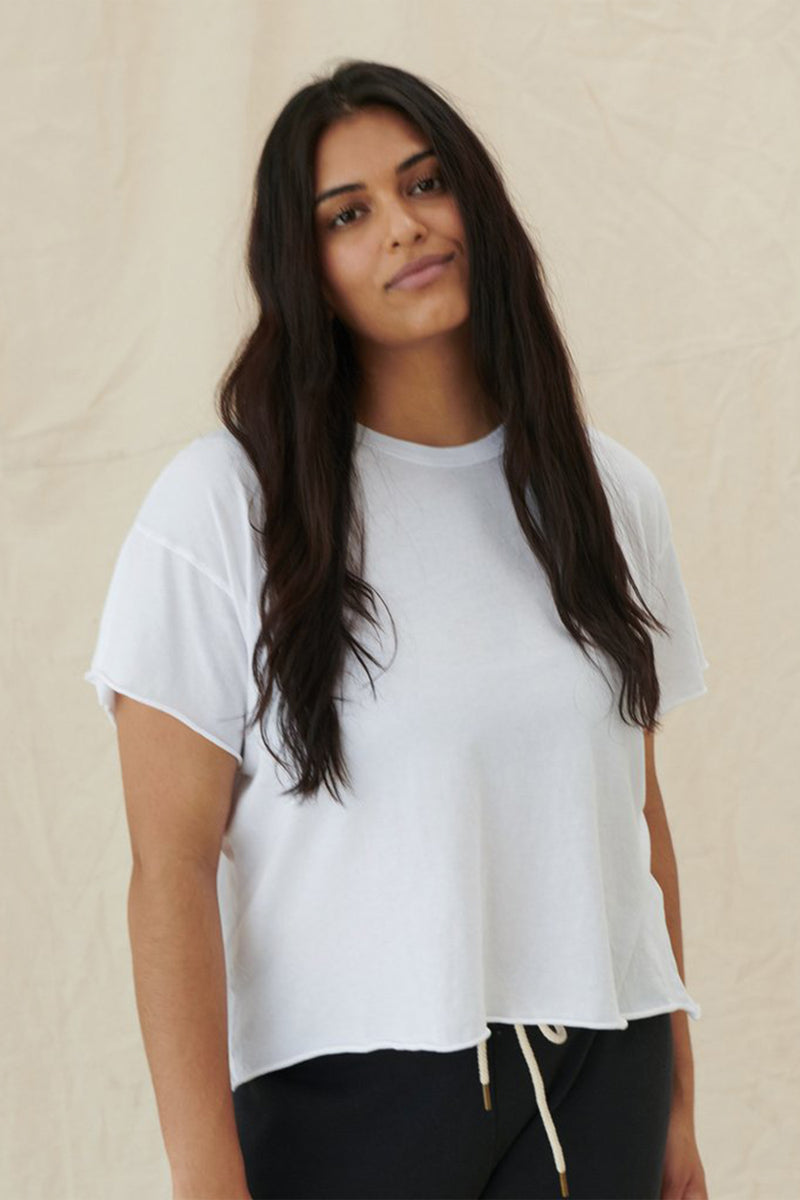 The Crop Tee in True White