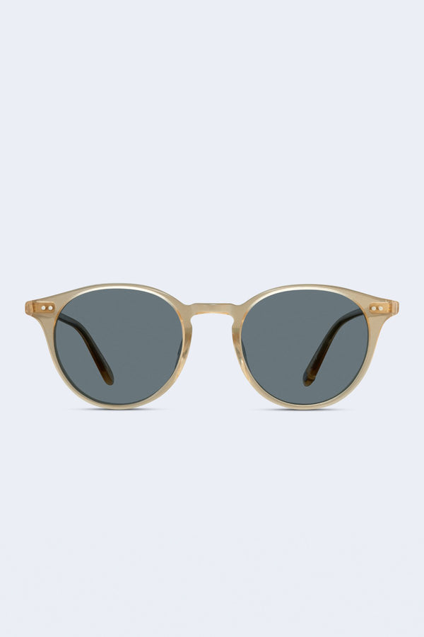 Clune Sunglasses in Blonde Semi-Flat Blue Smoke