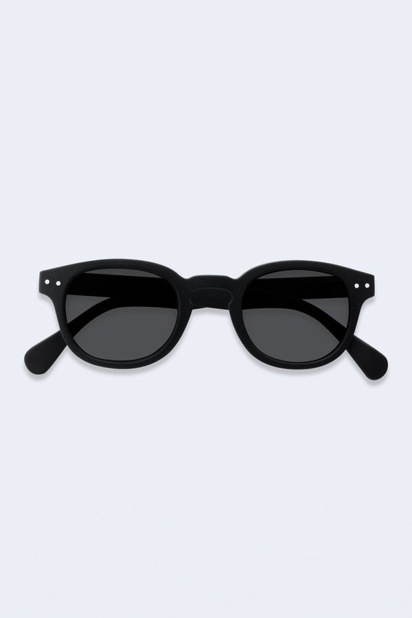 Junior Sunglasses #C Black Soft Grey Lenses