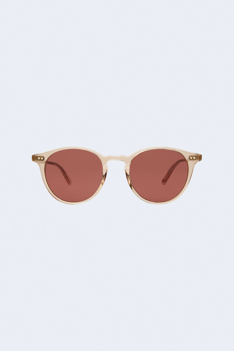 Clune Semi-Flat Pure Sunglasses in Nude Rosewood