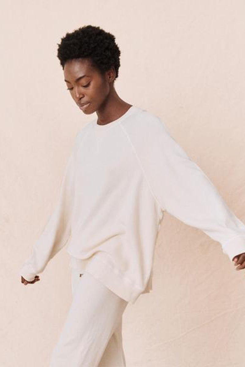 The Slouch Sweatshirt in Washed White