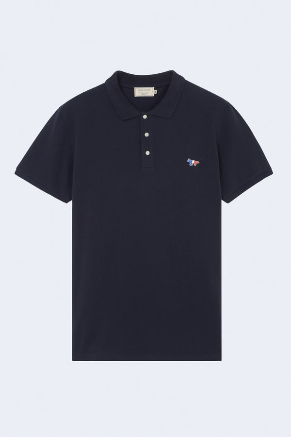 Tricolor Fox Patch Polo in Navy