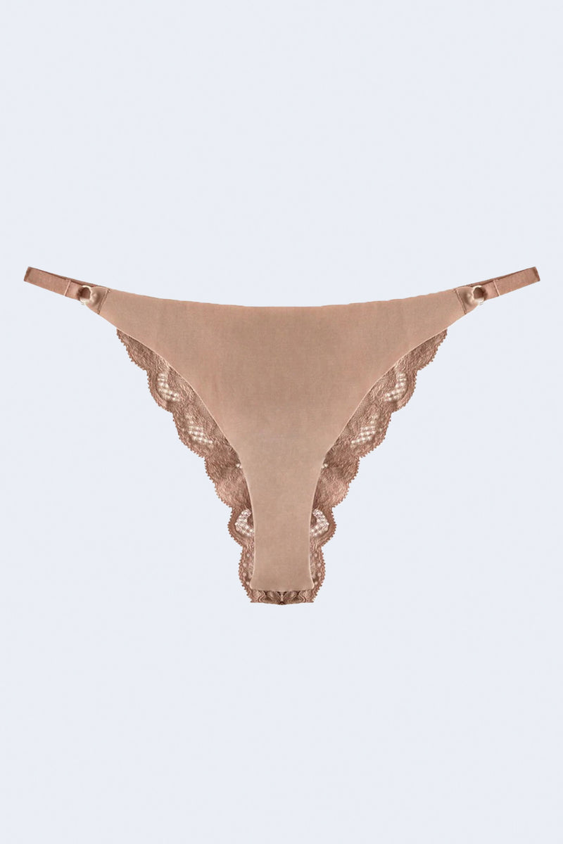 Panty Pack Charlotte Lace Cheeky in Tan