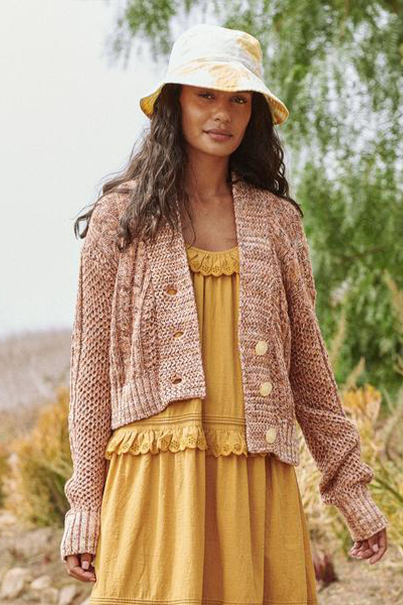The Cable Montana Cardigan in Prairie Marl