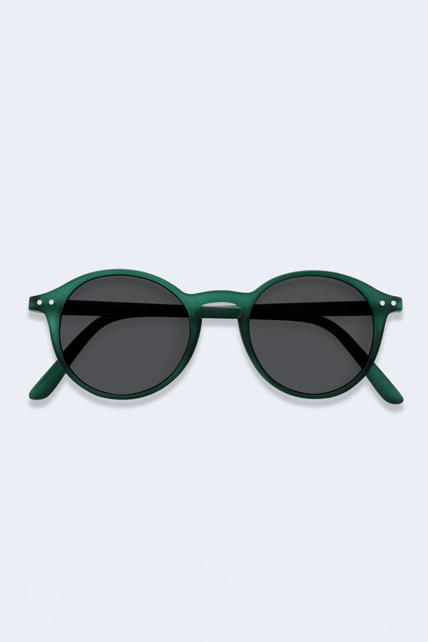 Sunglasses #D Green Crystal Soft Grey Lenses