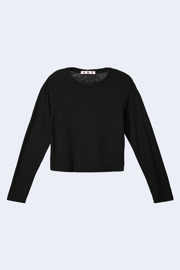 Long Sleeve Babe Tee in Black