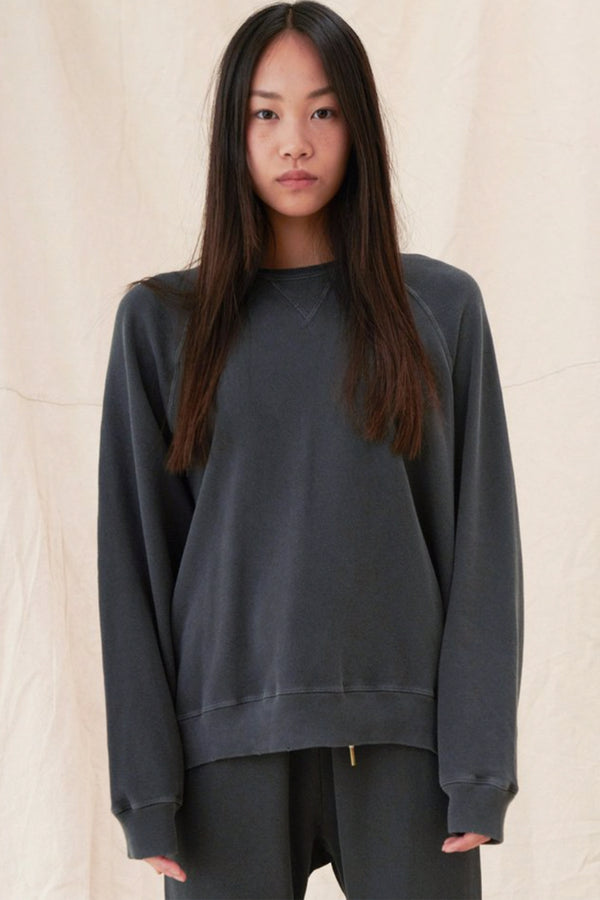 The Slouch Sweatshirt in Almost Black
