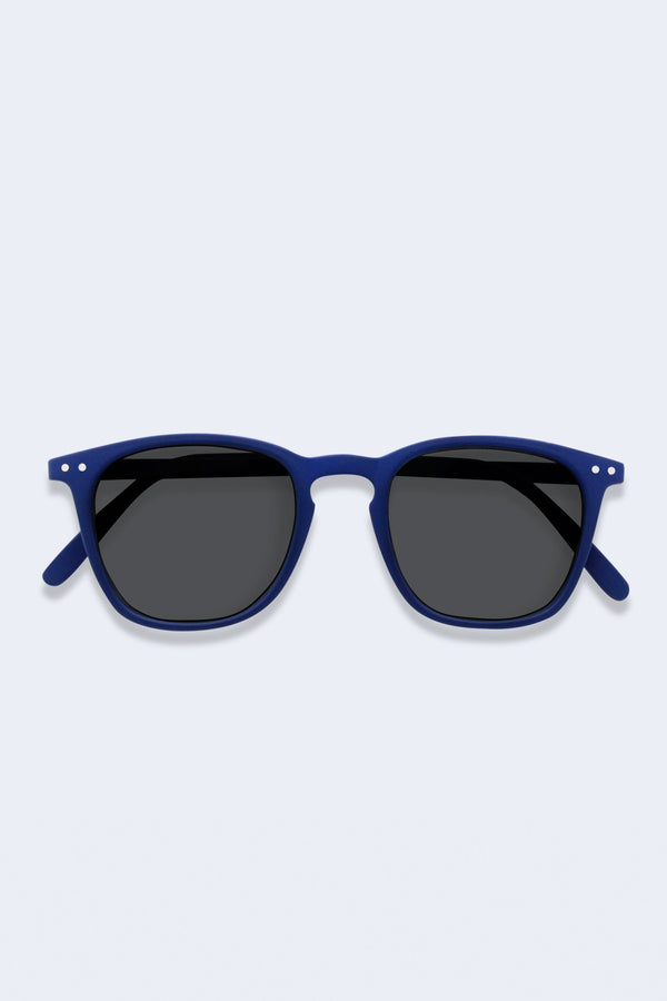 Sunglasses #E Navy Blue Soft Grey Lenses