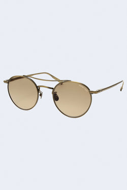 RIMOWA x GLCO Demi Blond Gold Sunglasses with Semi-Flat Sepia Gradient