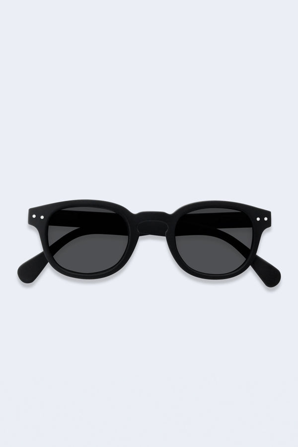 Sunglasses #C Black Soft Grey Lenses